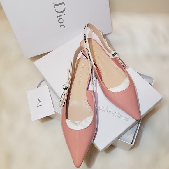 Pink Patent Leather Slingback Flats
